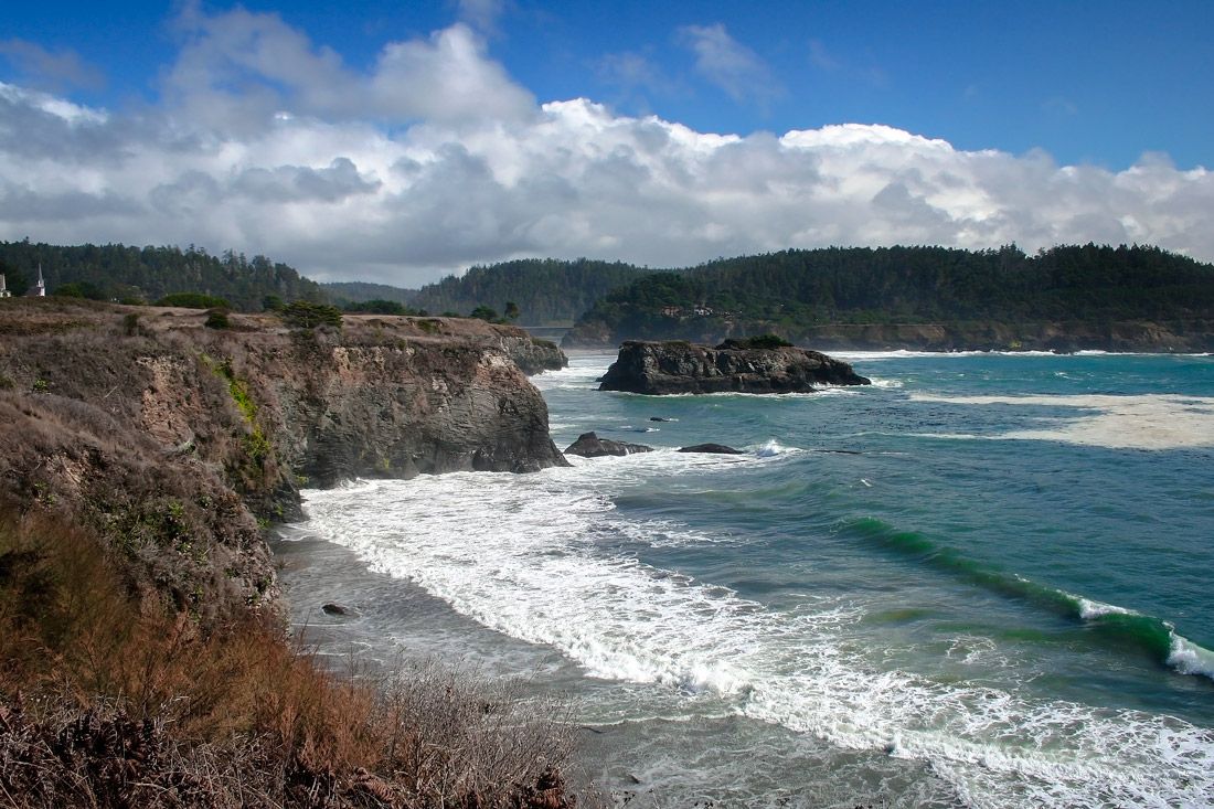 Mendocino Bay Cliffside California