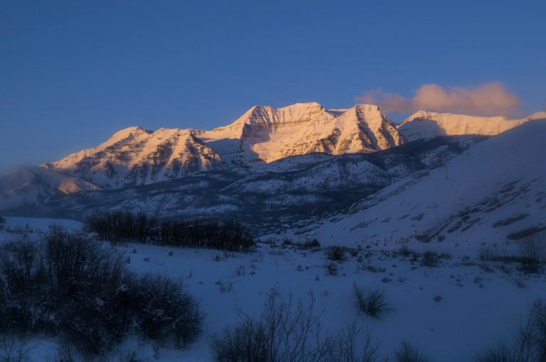 Mt Timpanogos Winter Sunrise