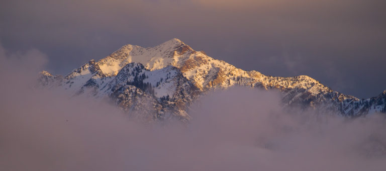 Wasatch Mountain Sunset Snow Storm Utah